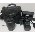 Canon 1000d Kit+ 55-200 +Сумка+фильтры+зу